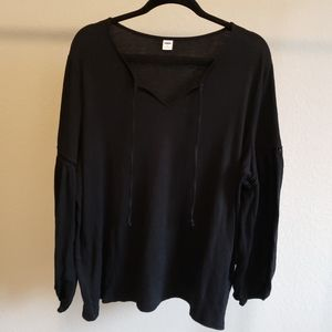 Old Navy Front Tie Flowy Blouse